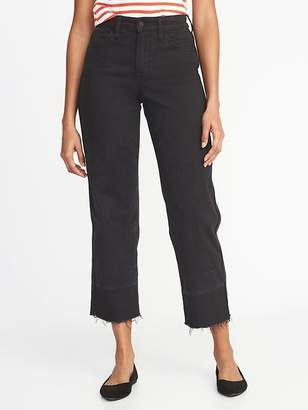 Old Navy High-Rise Wide-Leg Released-Hem Jeans for Women