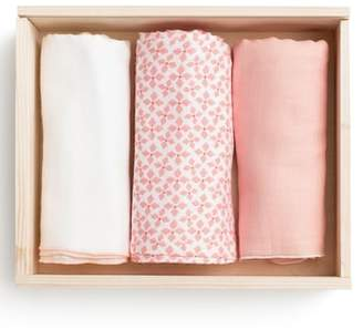 Lil Lemon by zestt Urban 3-Pack Organic Cotton Muslin Swaddle Blankets