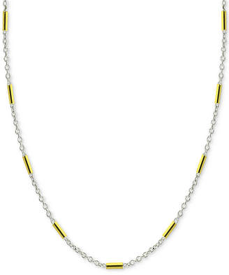"""Giani Bernini 20"""" Two-Tone Bar Link Chain Necklace in Sterling Silver & 18k Gold-Plate, Created for Macy's"""