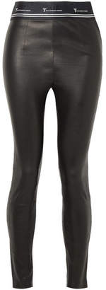Alexander Wang Stretch-leather Leggings - Black