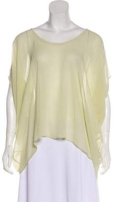 Helmut Lang Silk Sheer Top