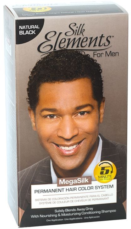 Silk Elements Permanent Hair Color System For Men Natural Black