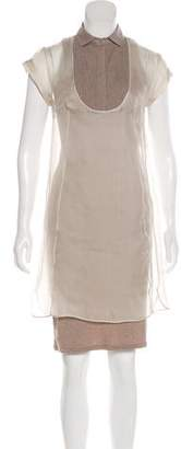 Brunello Cucinelli Silk Knee-Length Dress