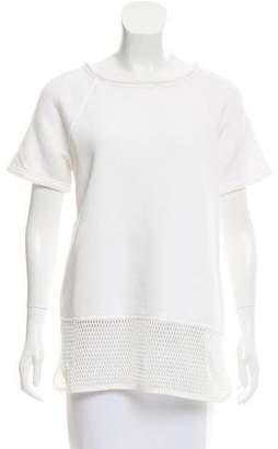 Alexander Wang Mesh-Paneled Pull-Over Sweatshirt