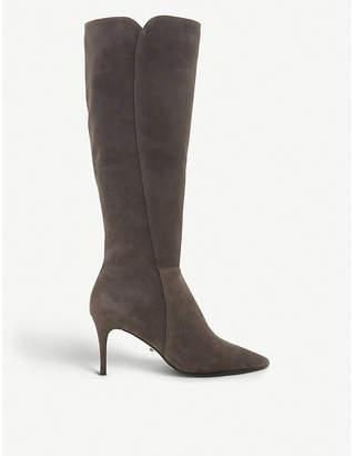 Dune Sakura knee-high suede boots