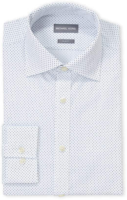Michael Kors Square Dash Slim Fit Dress Shirt