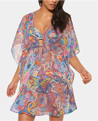 Bleu by Rod Beattie Printed Caftan Cover-Up Women Swimsuit