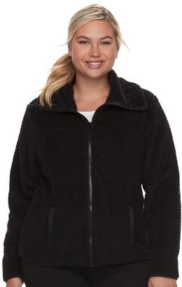 So Juniors' Plus Size SO Sherpa Zip-Up Jacket