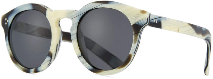 Illesteva Patterned Round Monochromatic Sunglasses, Multi Pattern