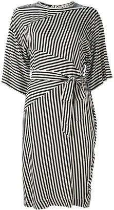 Diesel striped tie fastening dress $265.35 thestylecure.com