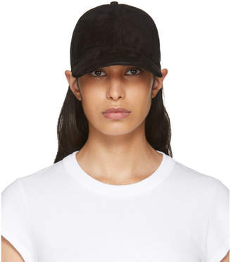 Rag & Bone Black Suede Marilyn Baseball Cap
