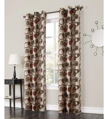No. 918 Julia 84-Inch Grommet Top Window Curtain Panel in Paprika