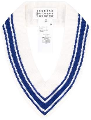 Maison Margiela ribbed V-neck collar