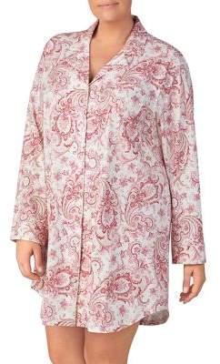 Lauren Ralph Lauren Plus Paisley-Printed Jersey Sleepshirt