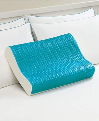 Comfort Revolution Cool Comfort Memory Foam Contour Pillow, Heat Minimizing Hydraluxe Gel & Open Cell Ventilated