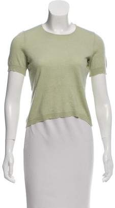 Oscar de la Renta Knit Crew Neck Top