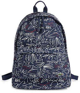 Lacoste Printed Top Zip Backpack