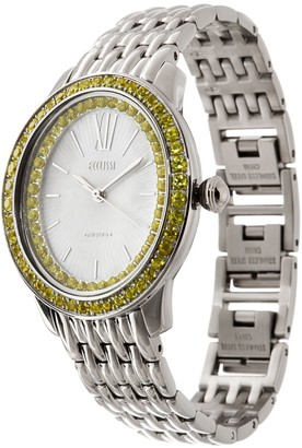 Ecclissi Facets Stainless Steel 2.00 cttw Colors of Sapphire Watch