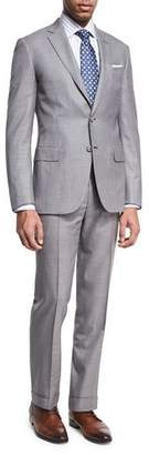 Brioni Houndstooth Super 160s Wool Two-Piece Suit, Black/White