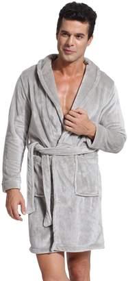 ebba411c6e Godsenen s Winter Fleece Bathrobes Sleepwear Robe