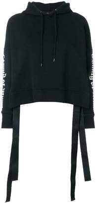 Marcelo Burlon County of Milan cropped printed hoodie