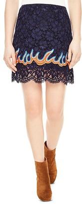 Sandro Flamy Lace Mini Skirt $275 thestylecure.com