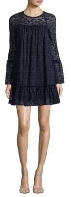 MICHAEL Michael Kors Long-Sleeve Lace Ruffle Shift Dress