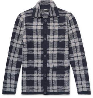 Fendi Checked Virgin Wool-Jacquard Overshirt