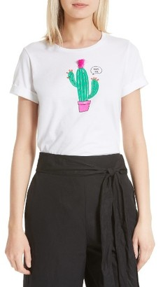Women's Kate Spade New York Cactus Tee $68 thestylecure.com