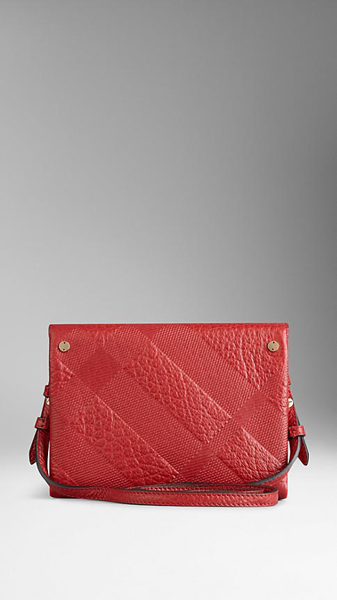 Burberry Small Embossed Check Leather Crossbody Bag 5