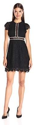 Cynthia Rowley Women's Lace Dress with Ruffles, 2
