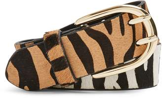 Topshop Zebra Mix Double Prong Belt