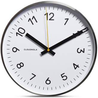 Apt2B Now Wall Clock by Cloudnola WHITE/SILVER