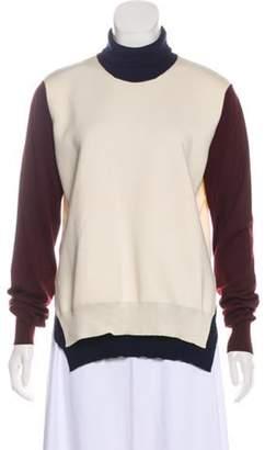 Celine Céline Wool Colorblock Sweater navy Céline Wool Colorblock Sweater