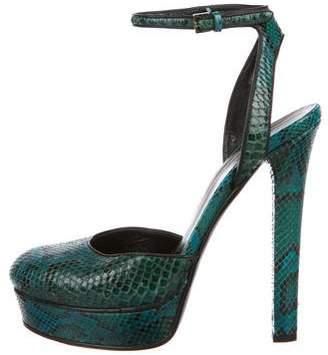 Gucci Snakeskin Platform Sandals