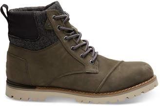 Toms Waterproof Tarmac Olive Nubuck Men's Ashland Boots