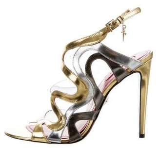 Cesare Paciotti Metallic PVC-Trimmed Sandals
