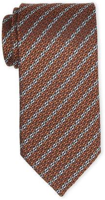 Ermenegildo Zegna Rust Link Silk Tie