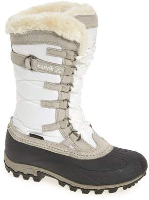 Kamik Snowvalley Waterproof Boot with Faux Fur Cuff