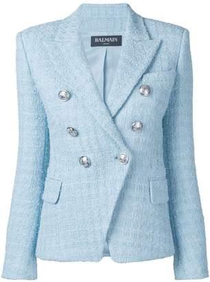 Balmain tweed-effect blazer jacket