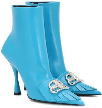 Balenciaga Fringe Knife leather ankle boots