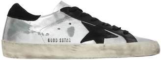 Golden Goose 20mm Super Star Metallic Leather Sneaker
