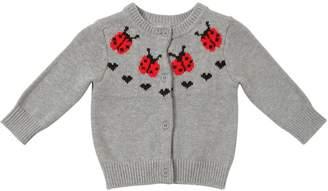 Stella McCartney Ladybugs Intarsia Cotton Knit Cardigan
