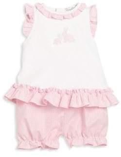 Kissy Kissy Baby Girl's Ruffled Top& Shorts Set