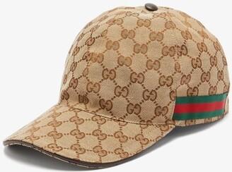 Gucci Web Stripe Gg Logo Baseball Cap - Mens - Beige