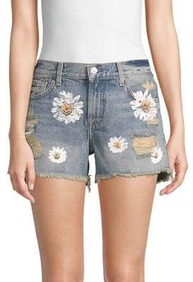 7 For All Mankind Cutoff Distressed Denim Shorts