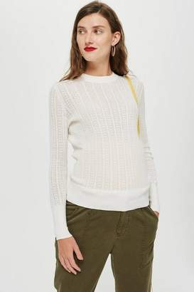 Topshop **Maternity Cable Knit Jumper