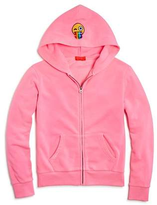 Butter Shoes Girls' Emoji Patches Hoodie - Little Kid