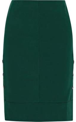 By Malene Birger Nilanos Snap-Detailed Stretch-Crepe Skirt