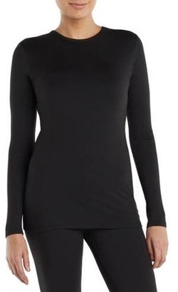 Cuddl Duds Climateright By ClimateRight by Women's and Women's Plus Sueded Warmth Long Underwear Top